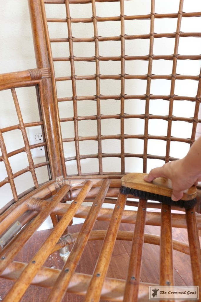 Revitalizing a Rattan Chair with DIY Furniture Polish-5