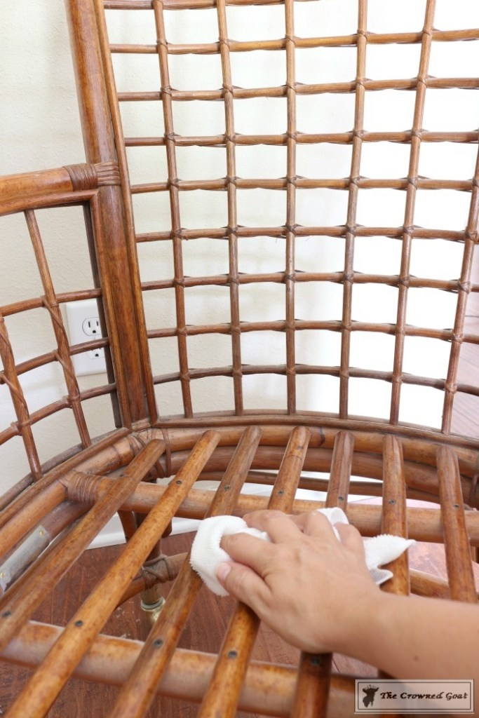 Revitalizing a Rattan Chair with DIY Furniture Polish-6