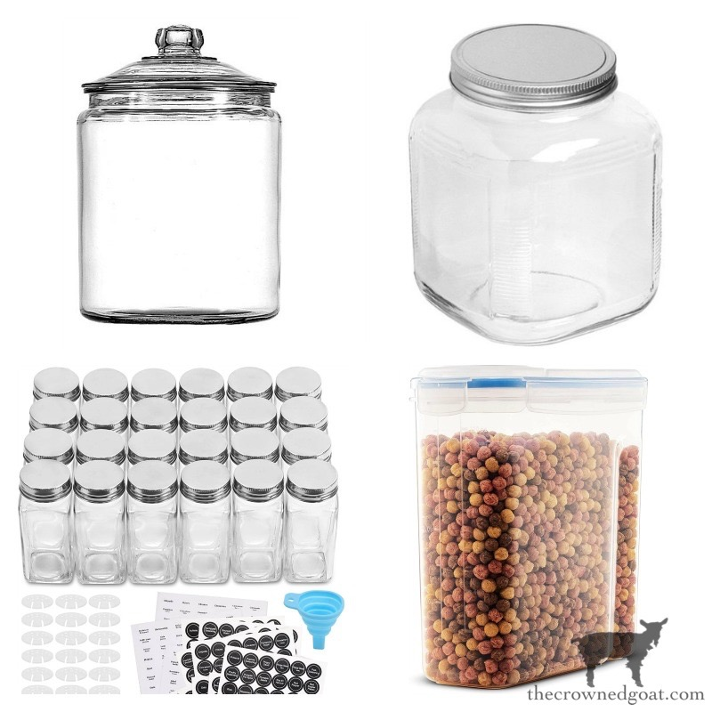 Organizing with jars and bins