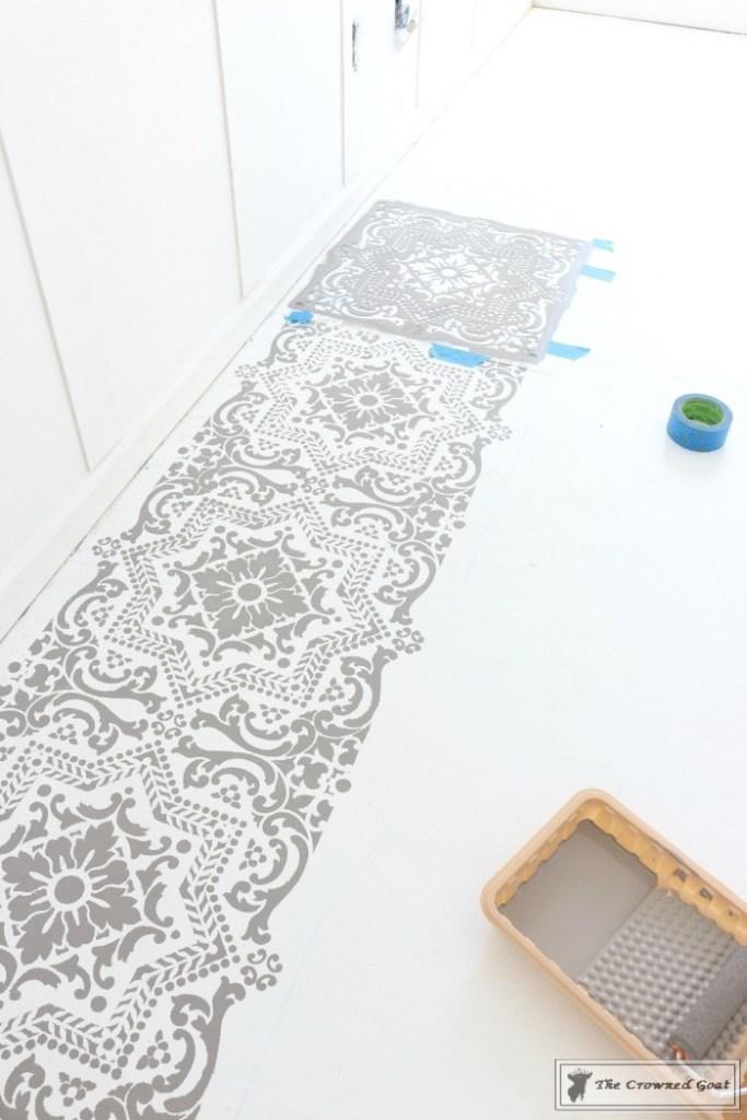 Easily Stencil a Concrete Floor-10