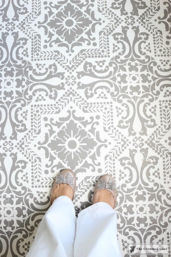 Easily Stencil a Concrete Floor-18