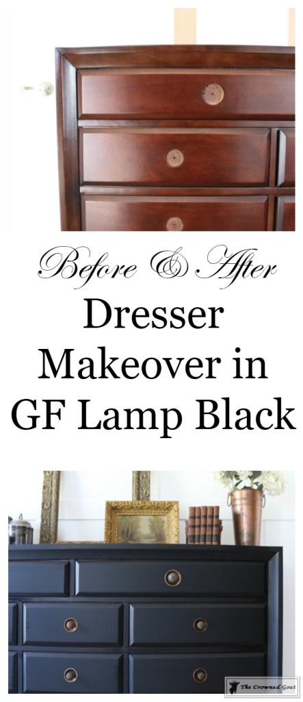 Lamp Black Painted Dresser-1