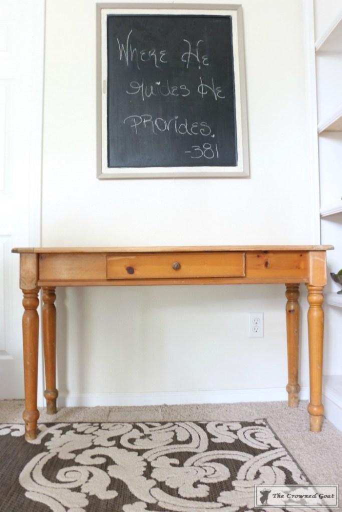 Using Dark Furniture Wax to Cover Orange Pine-1