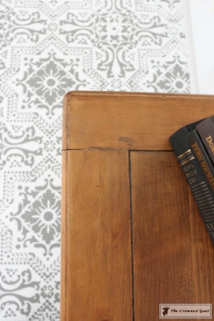Using Dark Furniture Wax to Cover Orange Pine-12