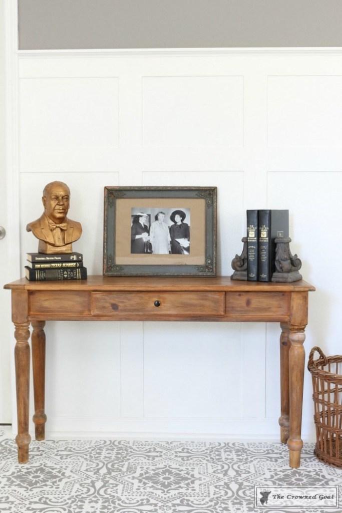 Using Dark Furniture Wax to Cover Orange Pine-14