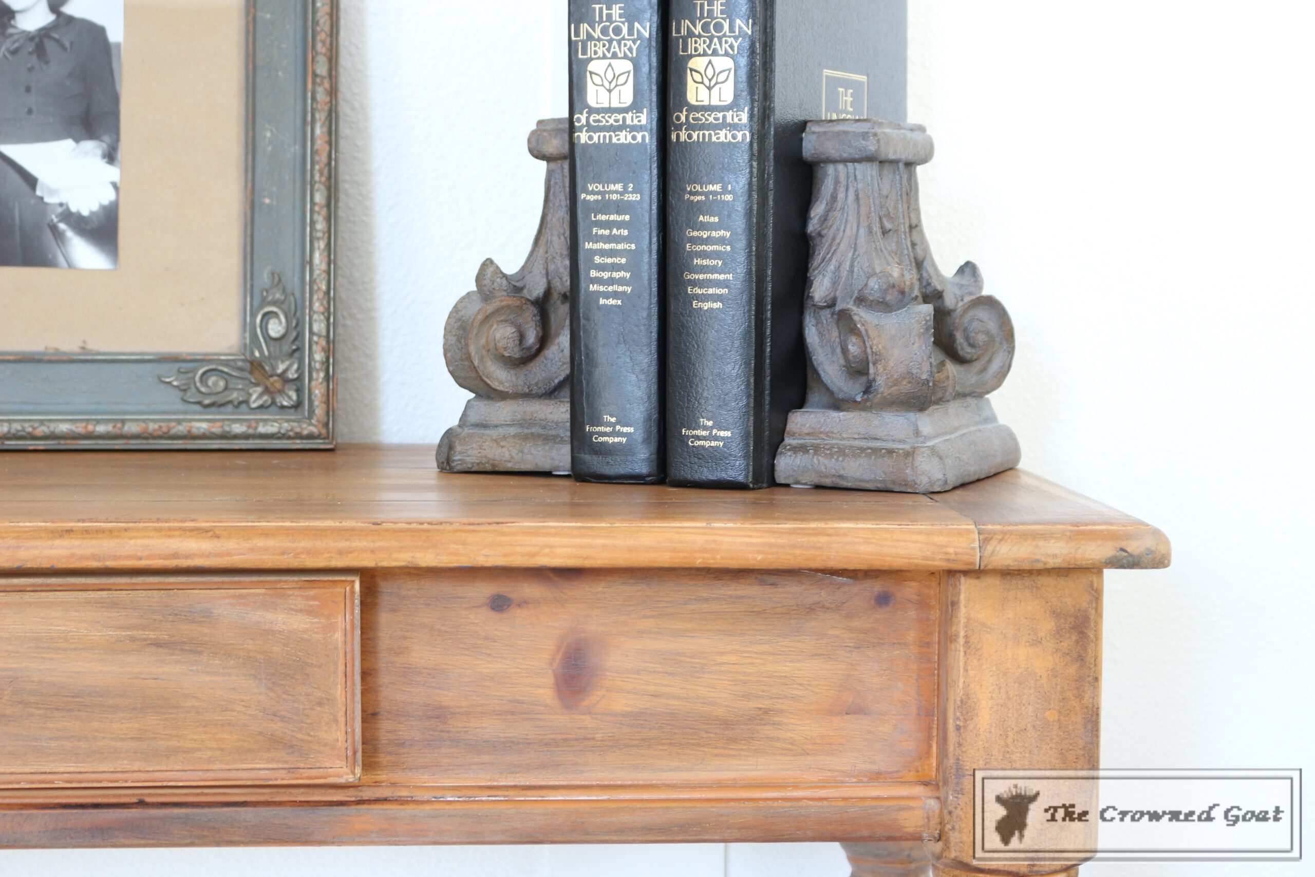 Before & After Console Table: Using Dark Wax as a Stain