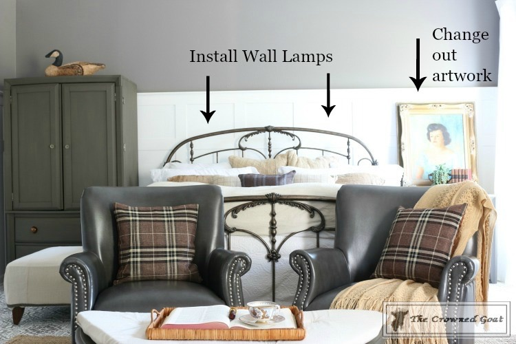 Completing the final details of a room makeover-2