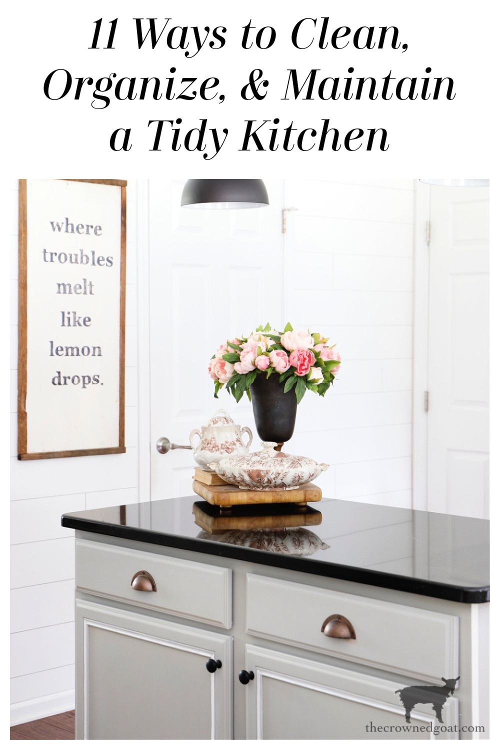 Helpful Tips and Tricks to Clean, Organize and Maintain a Tidy Kitchen-The Crowned Goat