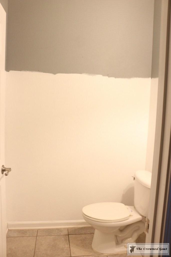 Adding Board and Batten to the Half Bathroom-3