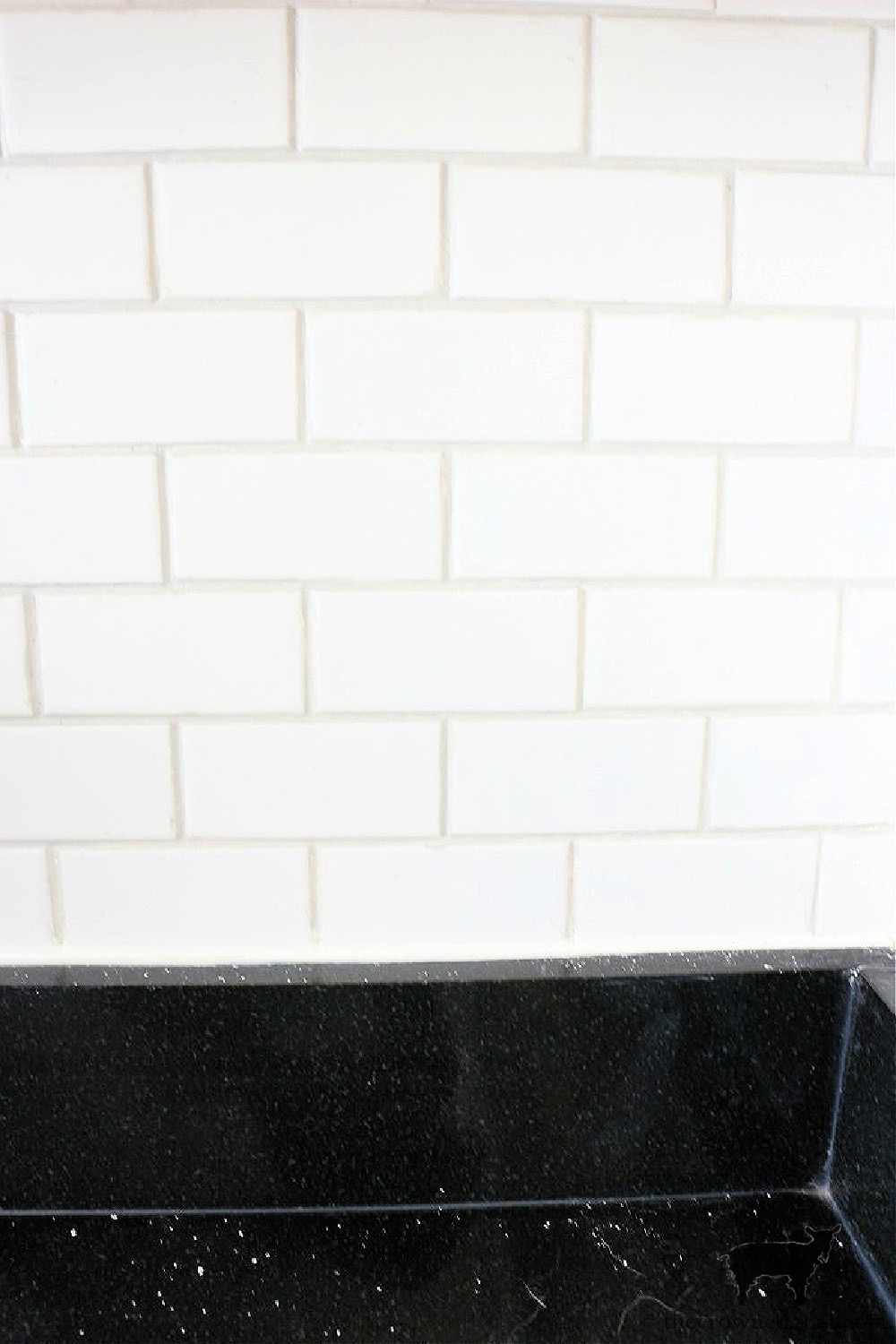 How to Easily Change the Color of Existing Grout From Alabaster to Silverado-The Crowned Goat