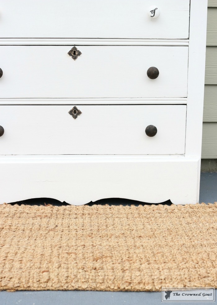 How to Create a Laundry Room Folding Station from a Dresser-The Crowned Goat-9
