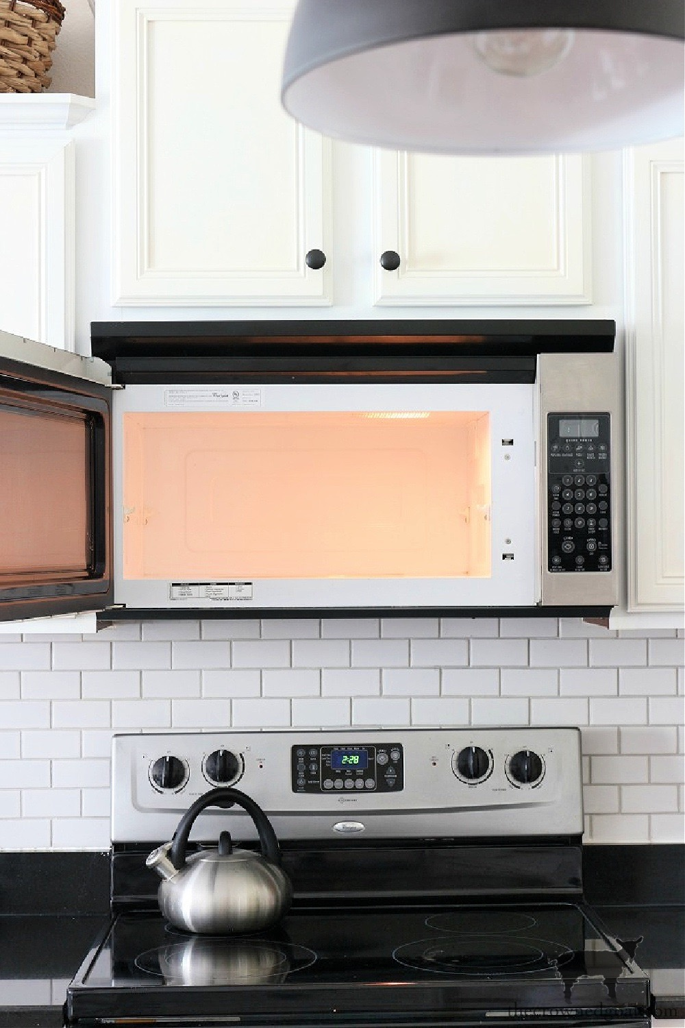 11 Ways to Clean, Maintain, and Organize Your Kitchen-Microwave Cleaning-The Crowned Goat