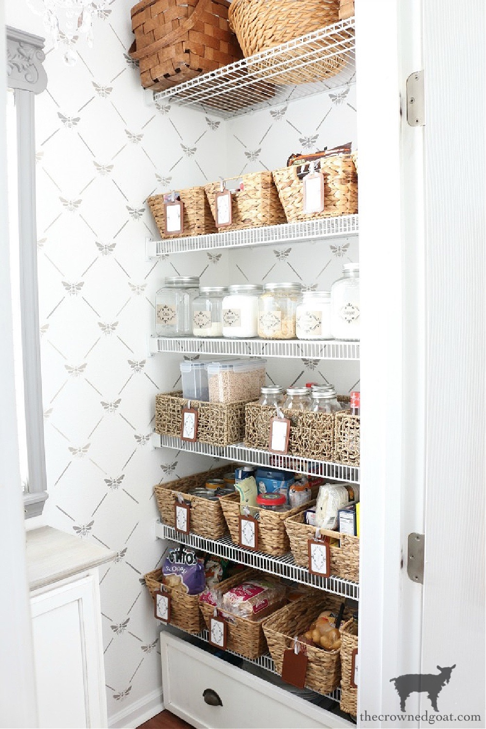 11 Ways to Clean, Maintain, and Organize Your Kitchen-Pantry Organization-The Crowned Goat