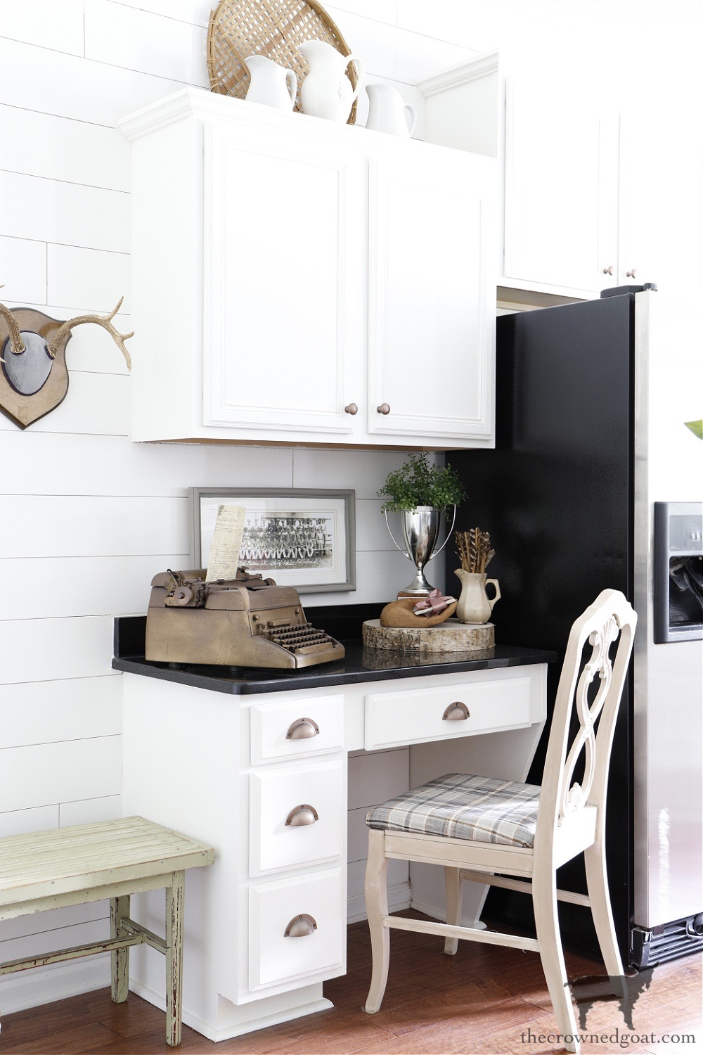 Cottage Style Built In Desk-The Crowned Goat Home Tour