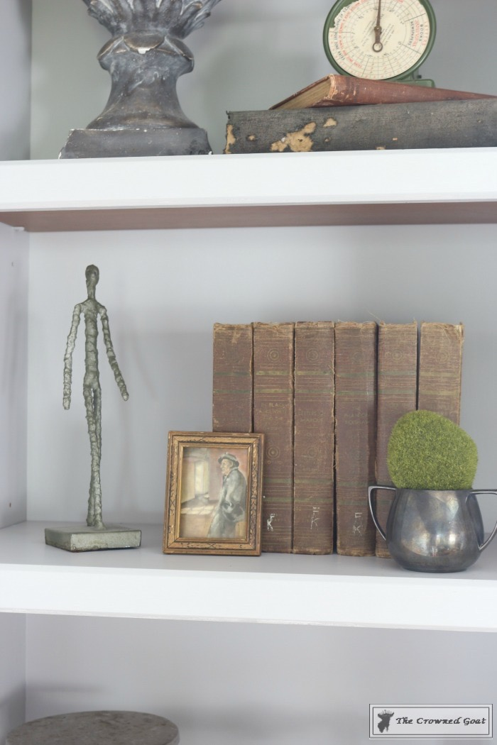 Before and After: Painted Office Bookcases in Seagull Gray