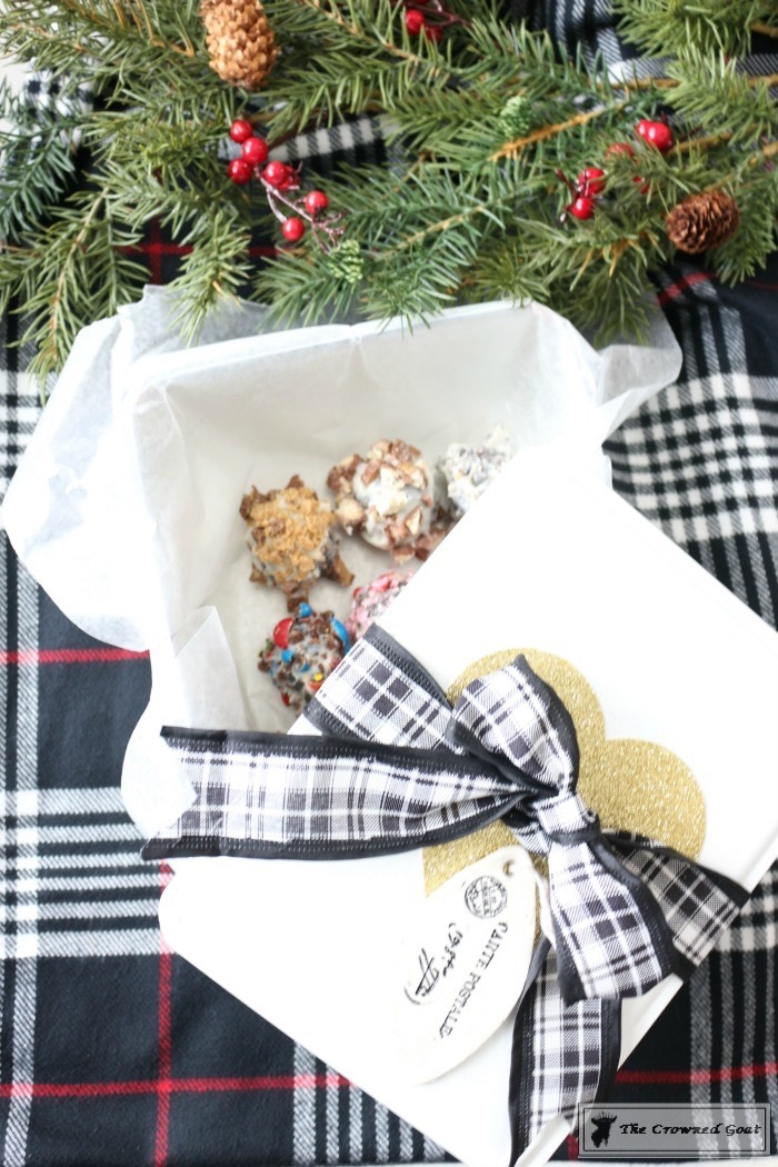 Fudgy Christmas Brownie Bites