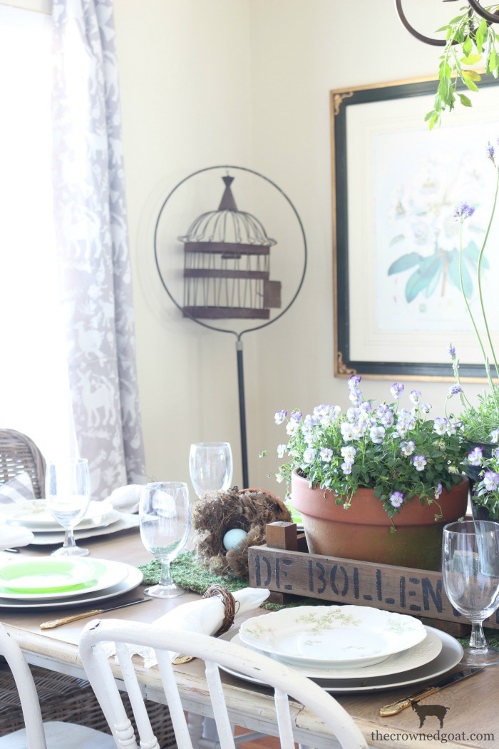 Spring Inspired Dining Room Tablescape