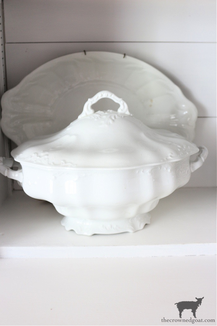 Ironstone Tureen and Plate - The Crowned Goat