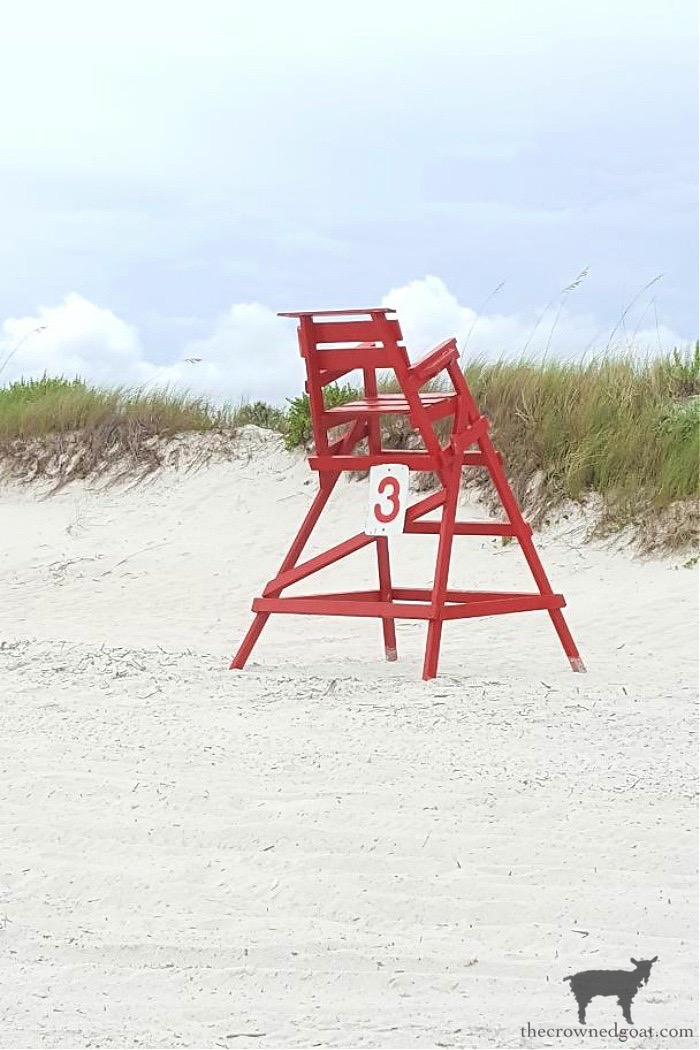 Lifeguard Chair on the Beach - Slowing Down - The Crowned Goat