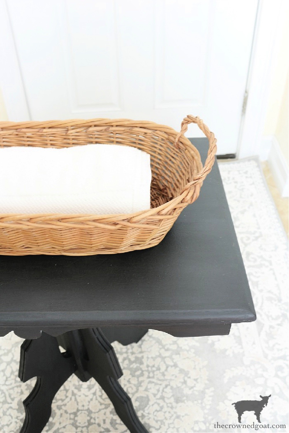 5 Key Spaces to Organize Before School Starts-Laundry Room Baskets and Bins-The Crowned Goat