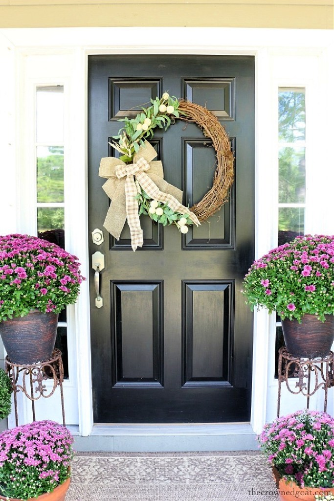 Fall Grapevine Wreath and Budget Friendly Fall Wreaths-The Crowned Goat