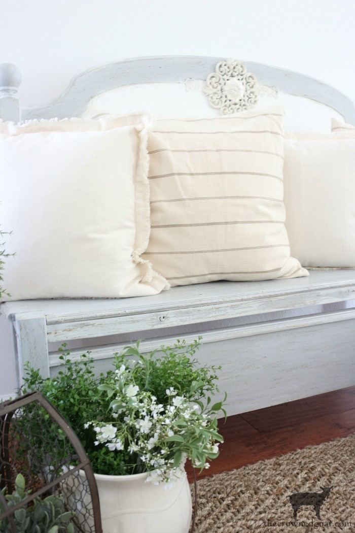 French Farmhouse Inspired Bench