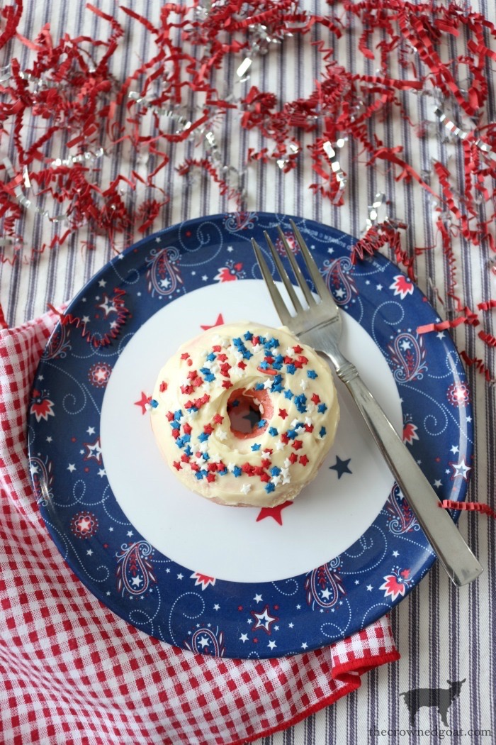 Strawberry Cake Donuts with Buttercream Icing