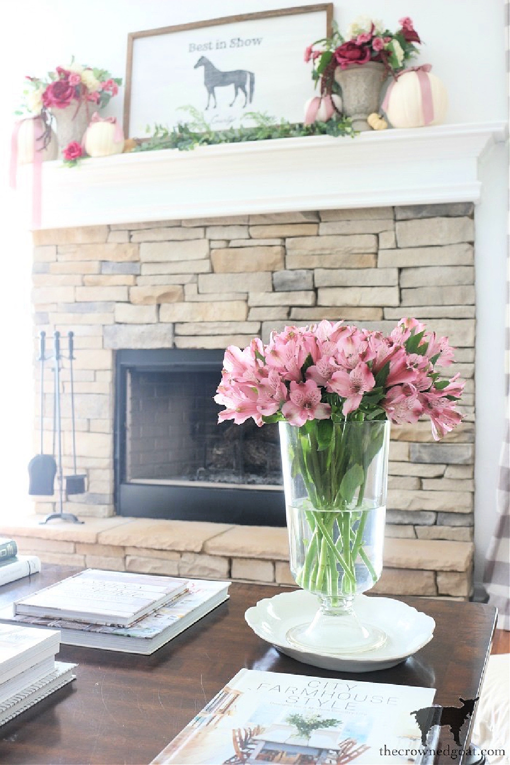 Simple Things You Can Do Now to Prepare for the Holidays-Fall Mantel Ideas-The Crowned Goat