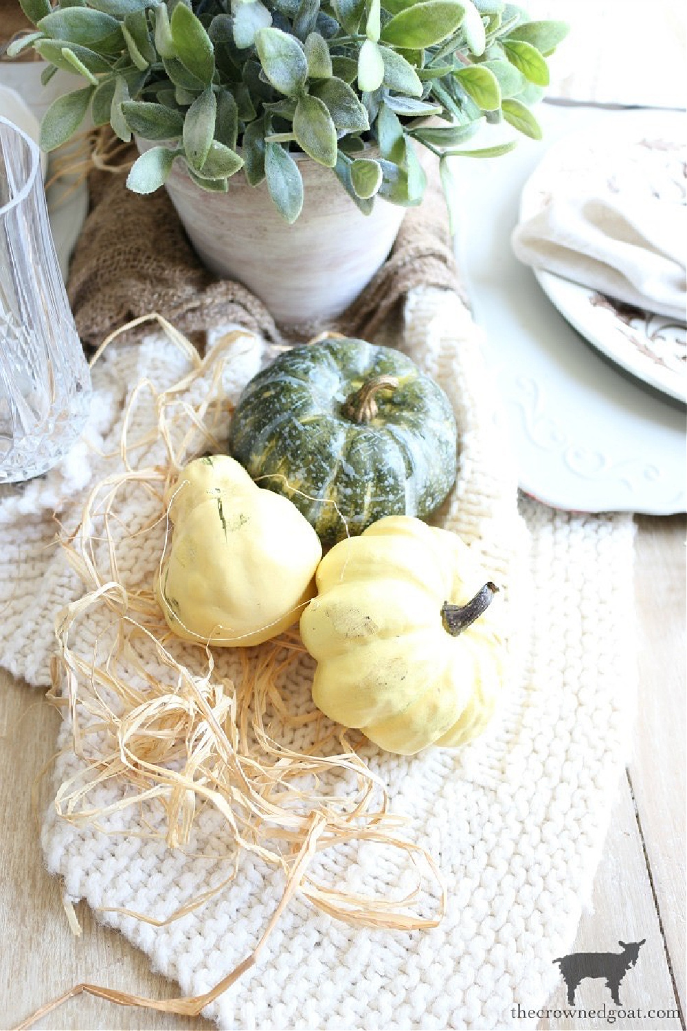 Simple Ways to Prepare Now for the Holidays-Decorating with Faux Pumpkins-The Crowned Goat