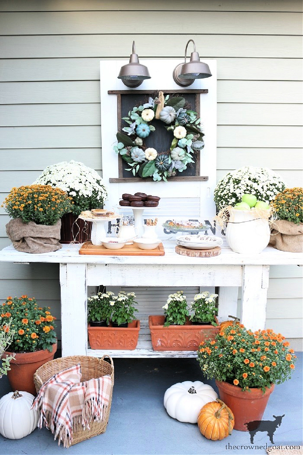 Simple Ways to Prepare Now for the Holidays-Outdoor Fall Party Ideas-The Crowned Goat