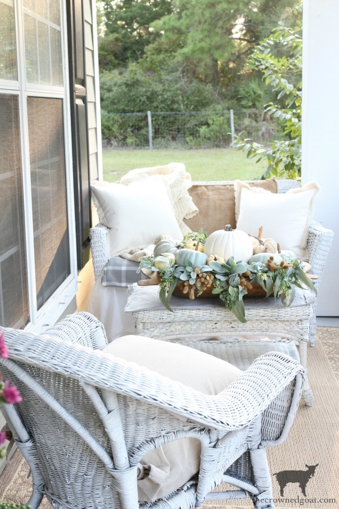 White Wicker Chair and Loveseat