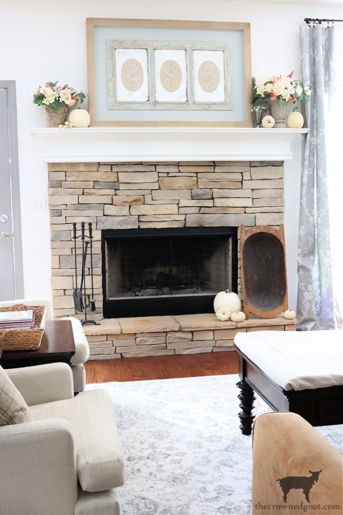 Steps to Creating an Easy Mantel This Fall-The Crowned Goat