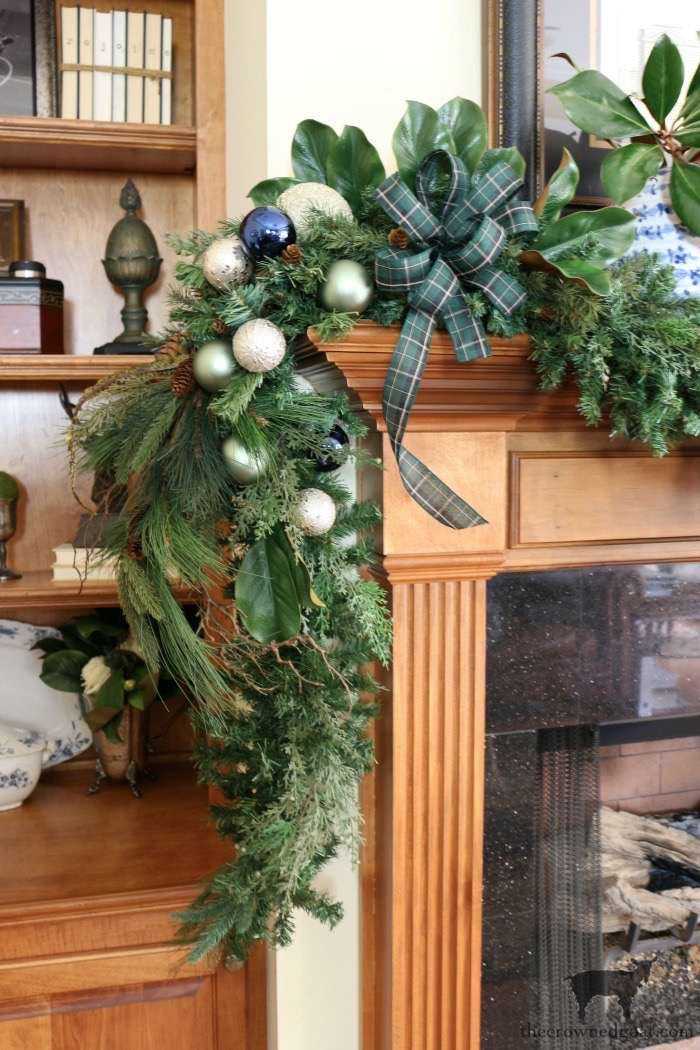 Blue and White Christmas Home Tour