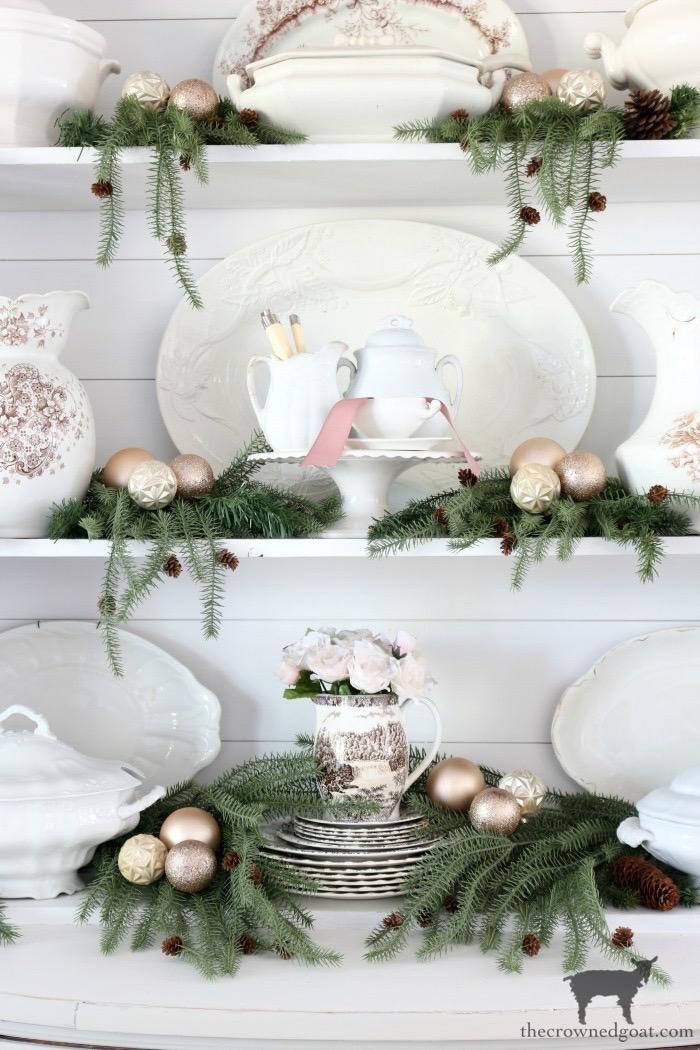 Soft & Romantic Farmhouse Christmas Dining Room