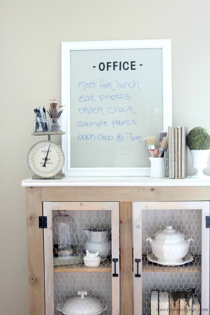 10 Tips for a More Organized Life - DIY Dry Erase Board - The Crowned Goat