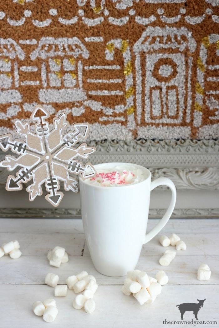 DIY Gingerbread Snowflake Ornaments