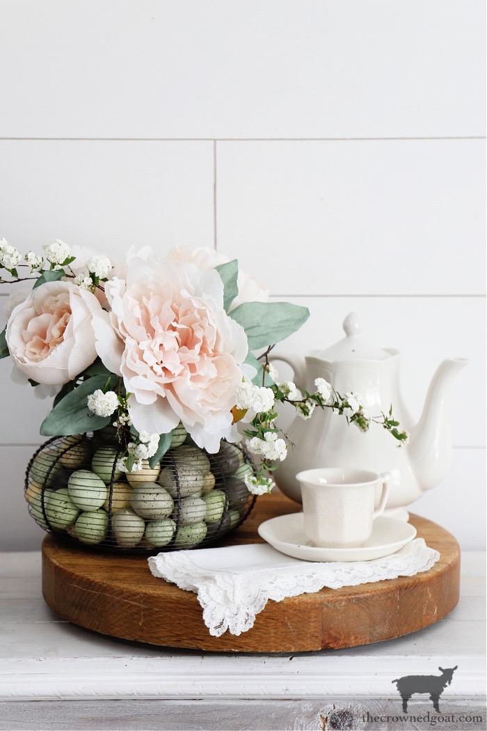 Egg Basket Flower Arrangement