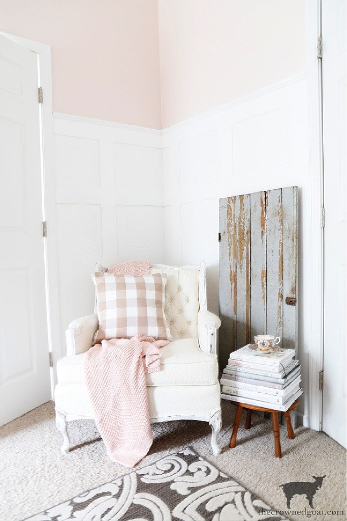 Cozy Reading Nook Featuring Salvaged Barn Door-The Crowned Goat