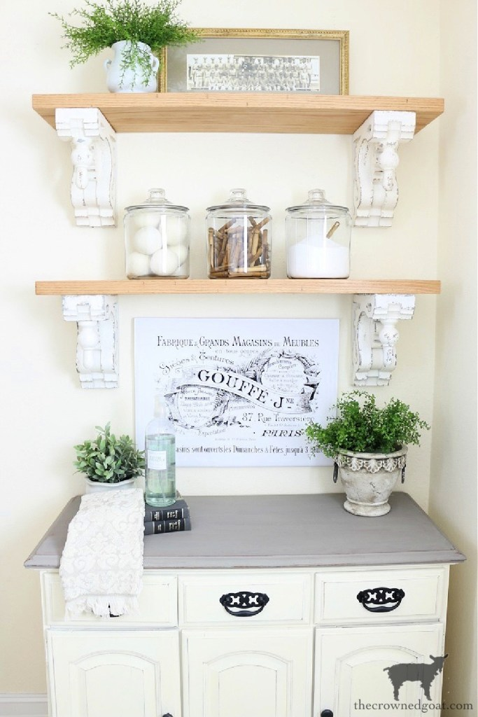 Decorating with Salvaged Finds-Corbels-The Crowned Goat
