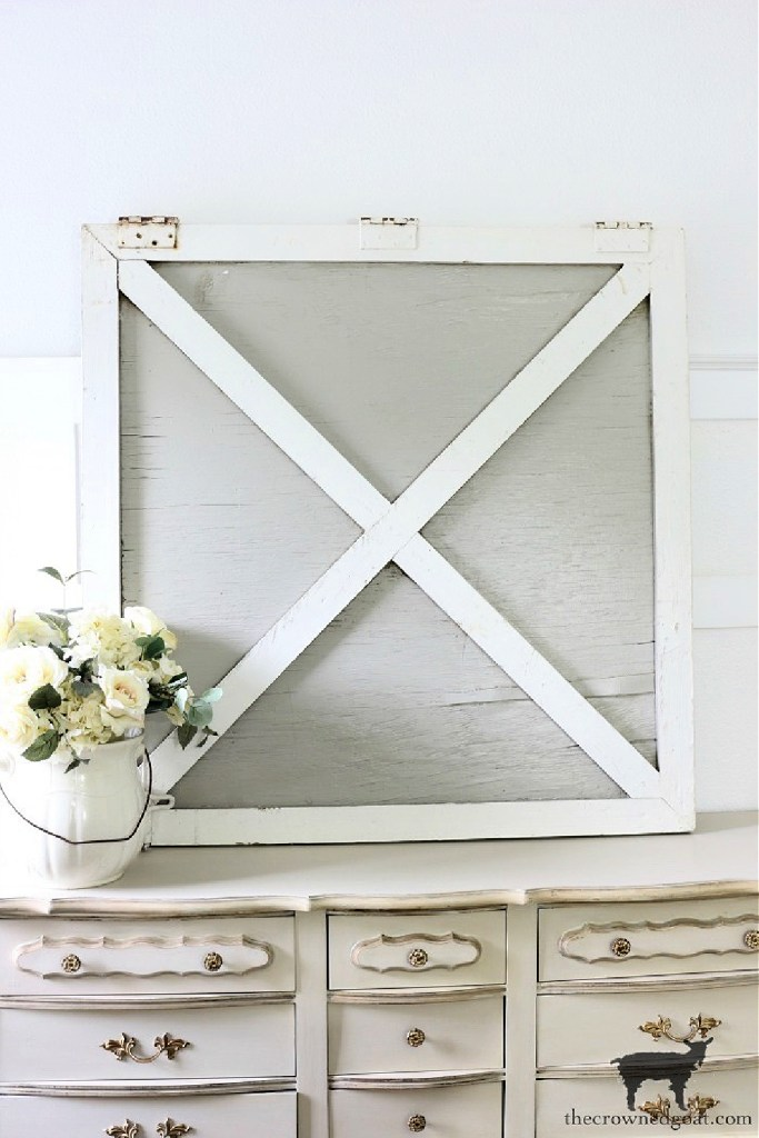 Decorating with Salvaged Finds-Horse Barn Door-The Crowned Goat