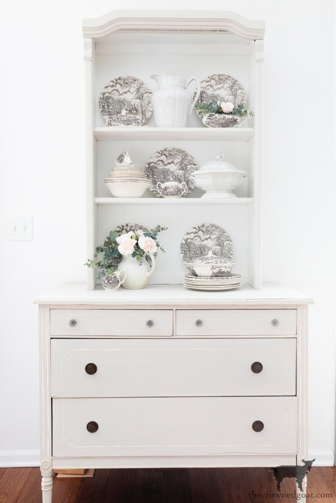 Farmhouse Hutch and Dresser Painted in Primitive-The Crowned Goat