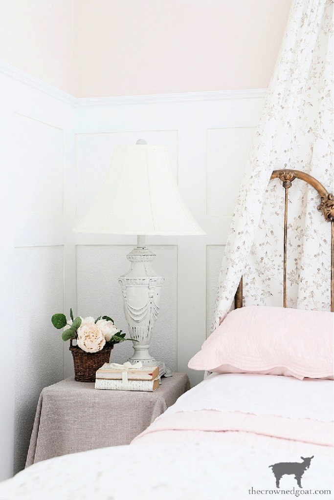 Learn how to give your thrifted lamps a French Country feel with these simple steps-The Crowned Goat