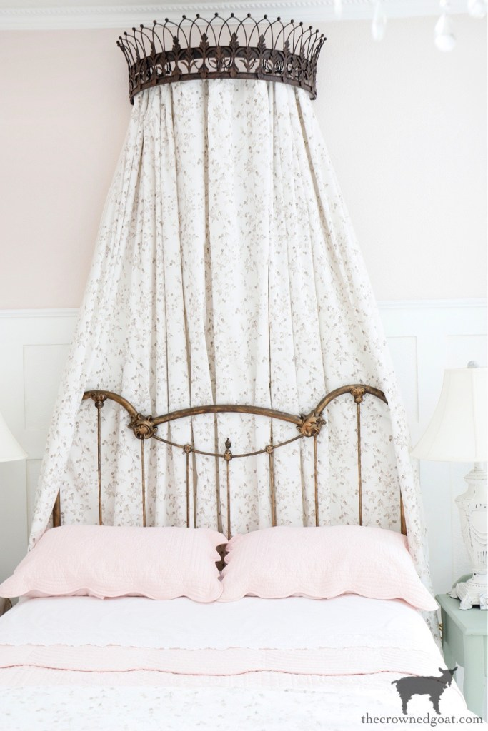 How to Style a Metal Bed Crown - The Crowned Goat