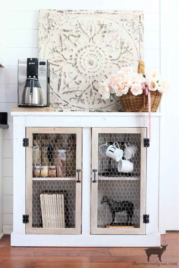 French Country Cabinet Makeover without Dropcloth Panels-The Crowned Goat
