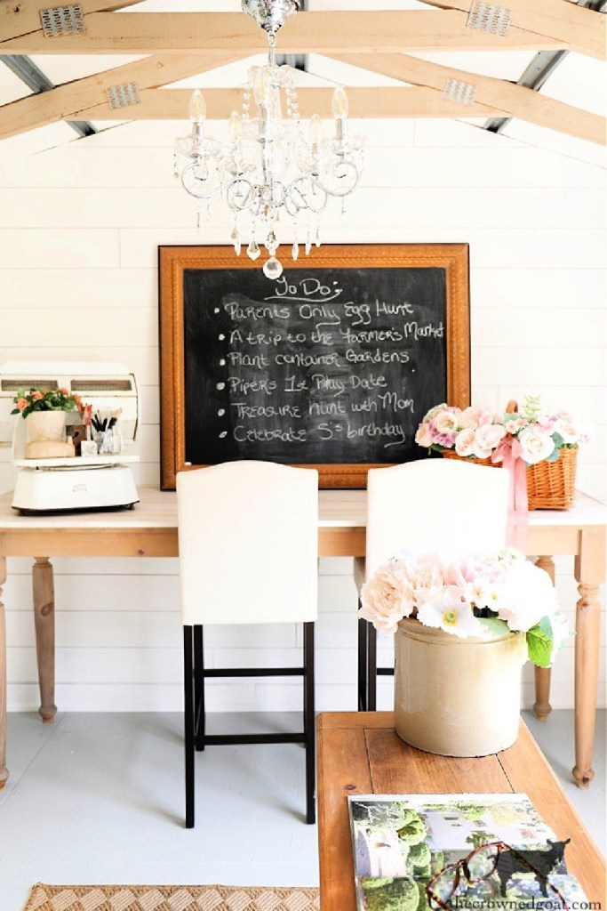 Simple Chalkboard Decorating Ideas-Activities Tracker-The Crowned Goat