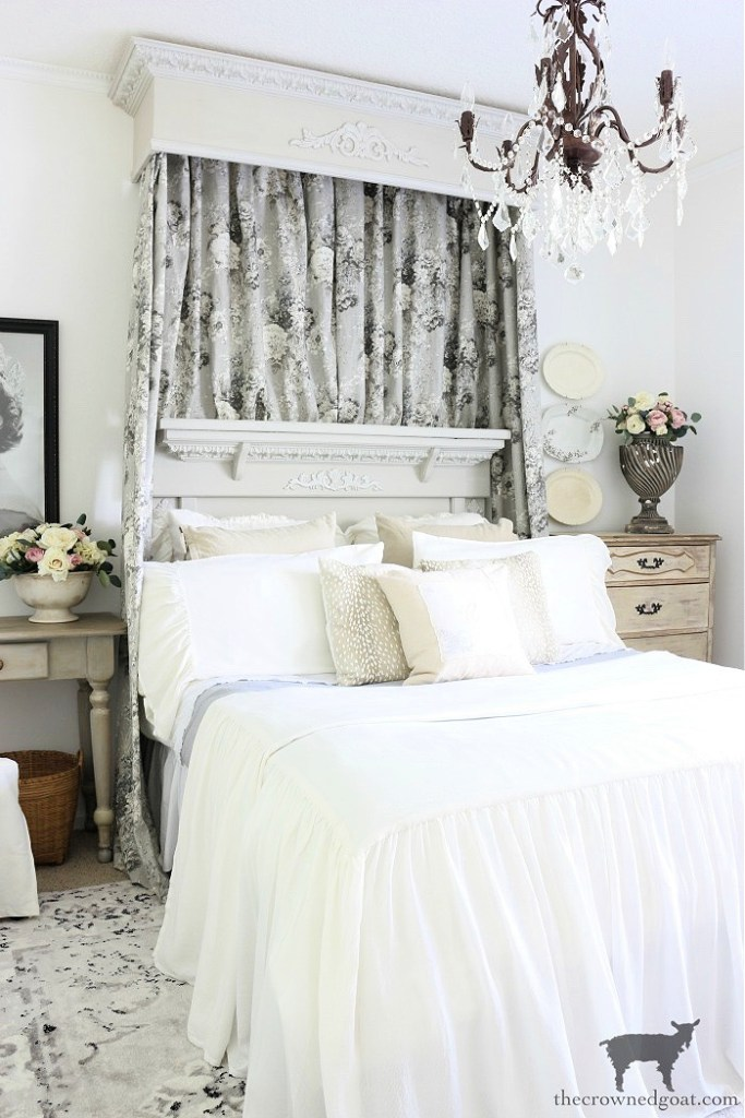 DIY Bed Crown and French Cottage Bedroom Makeover-The-Crowned-Goa
