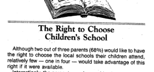 We believe in having the freedom to choose but with schools, most didn't NEED to do so.