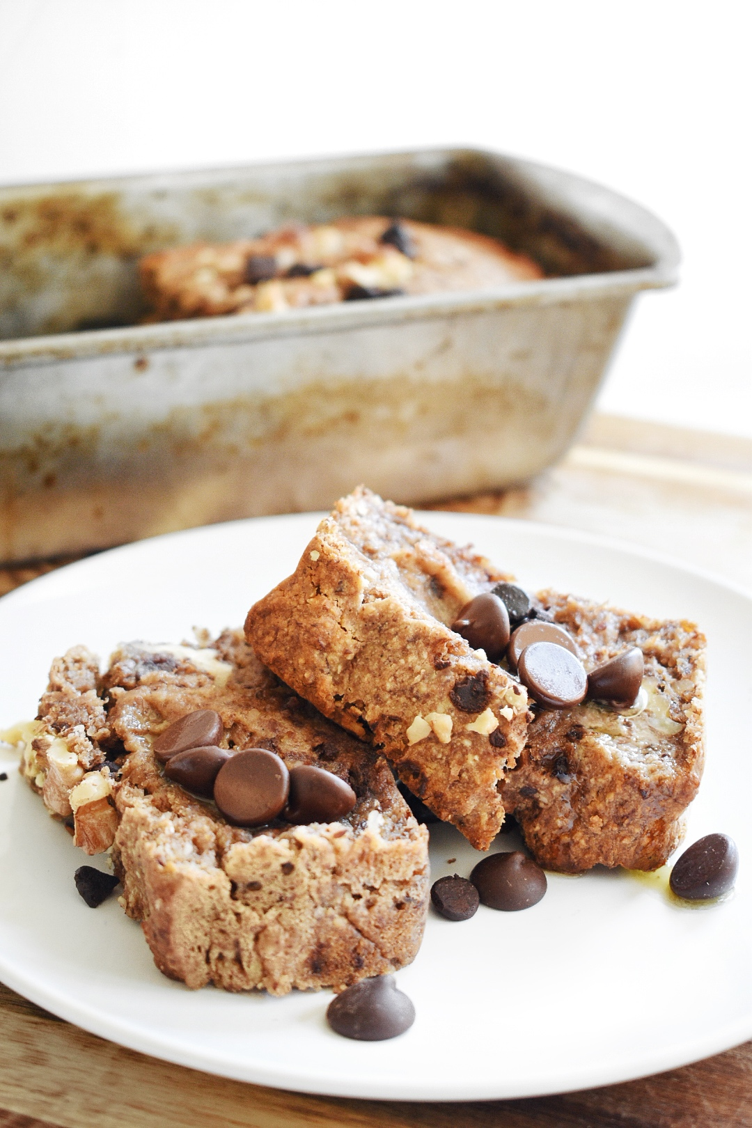 Coconut Chocolate Chip Banana Nut Bread