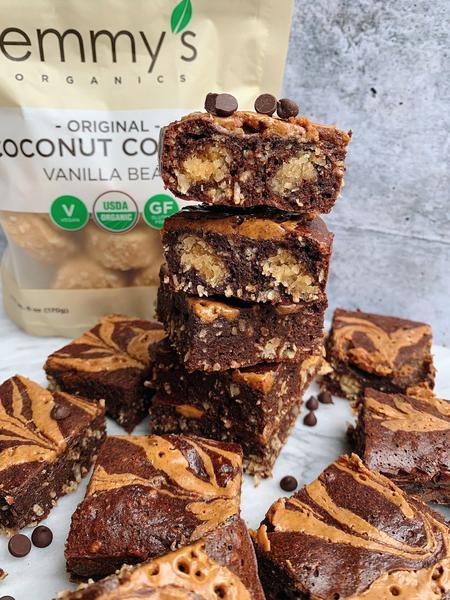 Fudgy Chocolate Coconut Brownies