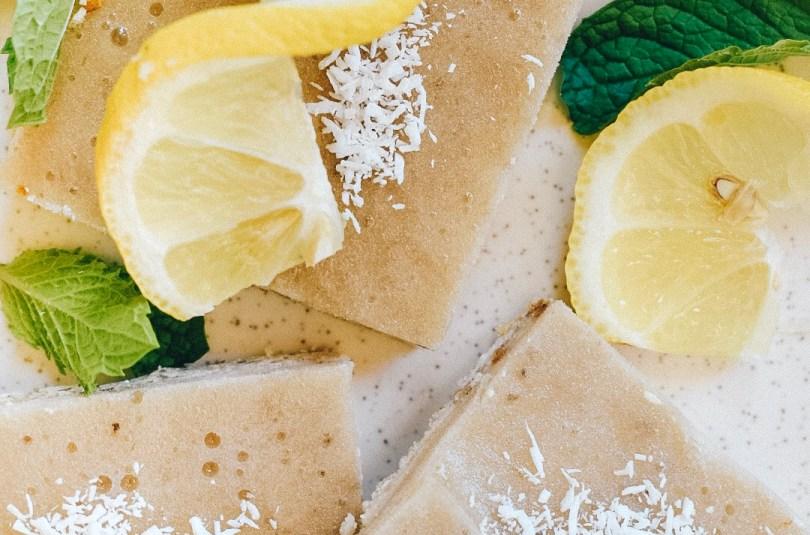Lemon Ice Cream Slices